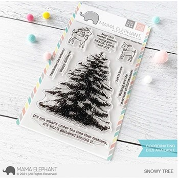 Mama Elephant Clear Stamps SNOWY TREE