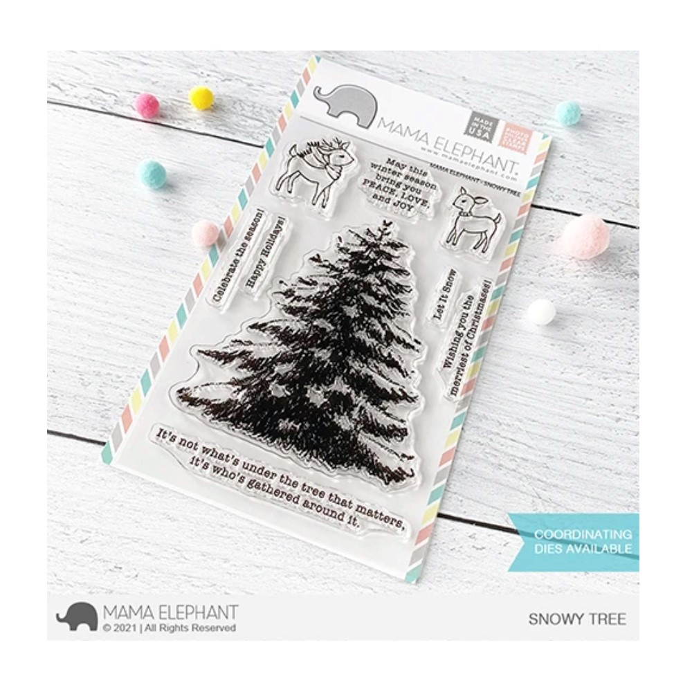 Mama Elephant Clear Stamps SNOWY TREE zoom image