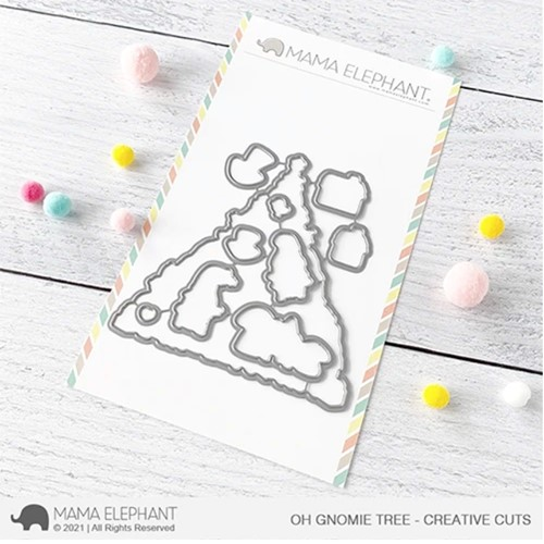 Mama Elephant OH GNOMIE TREE Creative Cuts Steel Dies Preview Image
