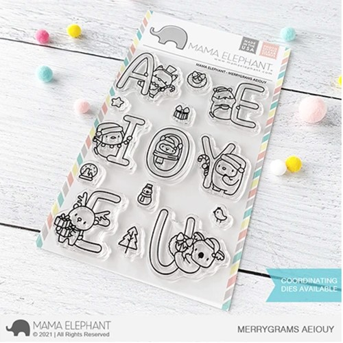 Mama Elephant Clear Stamps MERRYGRAMS AEIOUY Preview Image