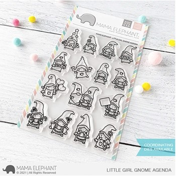 Mama Elephant Clear Stamps LITTLE GIRL GNOME AGENDA