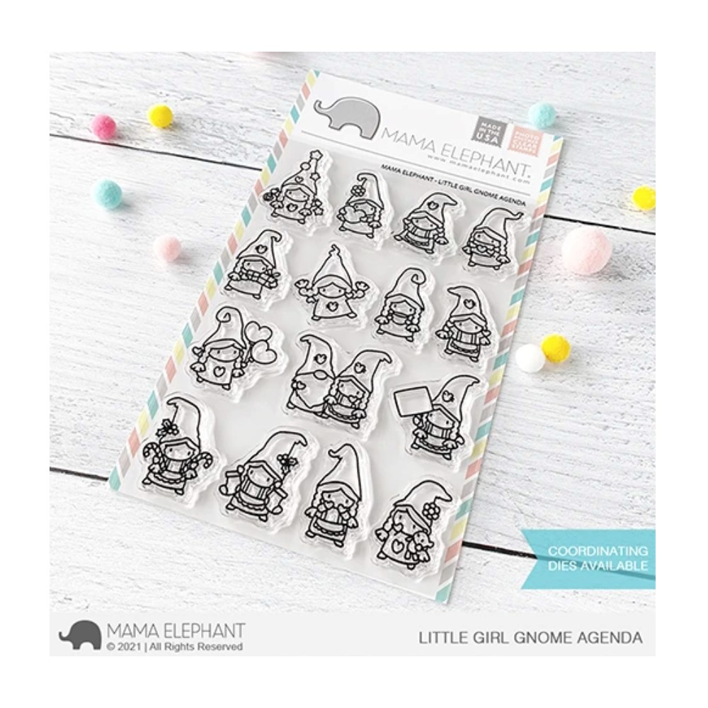 Mama Elephant Clear Stamps LITTLE GIRL GNOME AGENDA zoom image