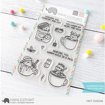 Mama Elephant Clear Stamps HOT COCOA