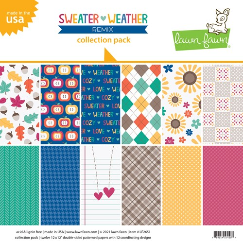 Lawn Fawn SWEATER WEATHER REMIX 12x12 Inch Collection Pack lf2651 ** Preview Image