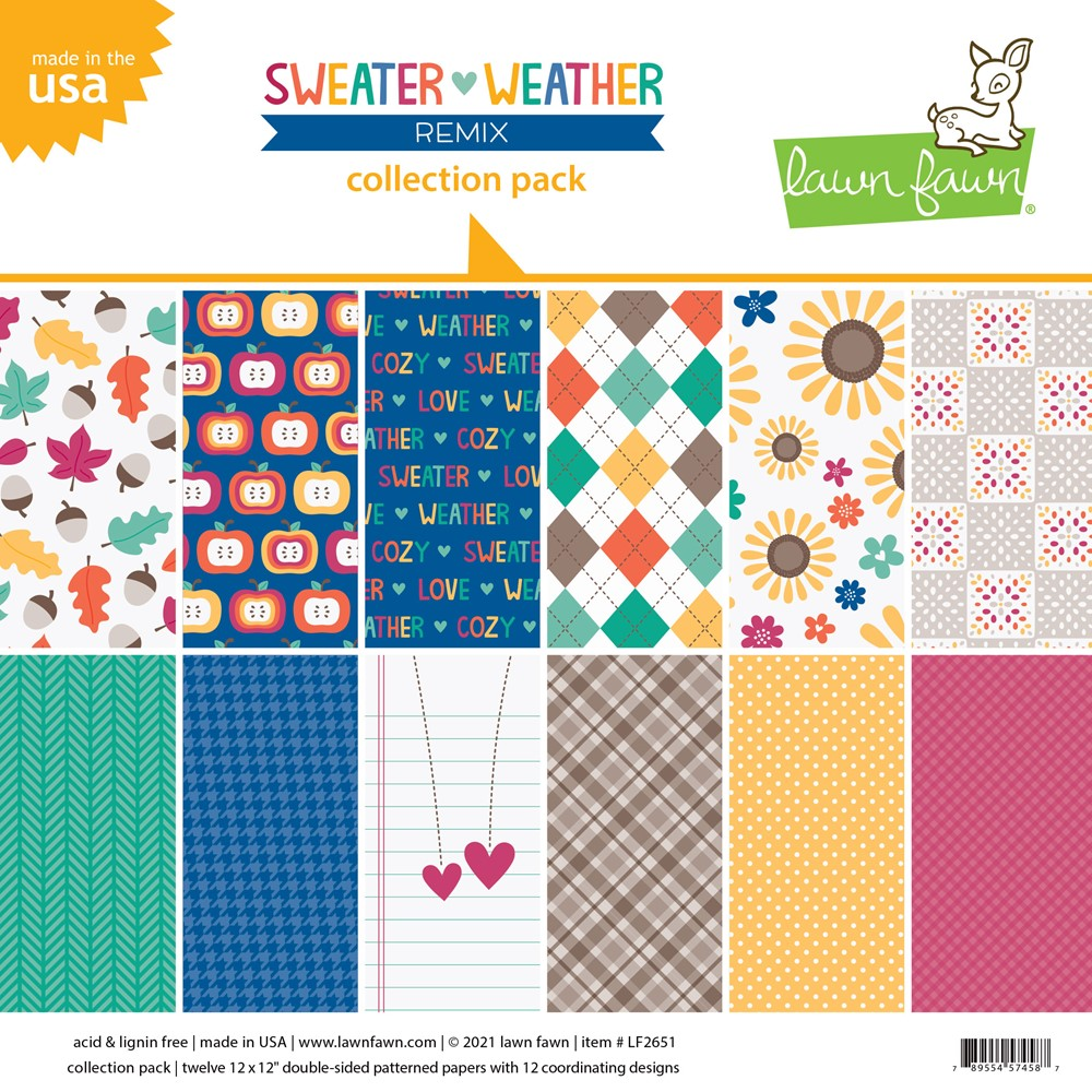 Lawn Fawn SWEATER WEATHER REMIX 12x12 Inch Collection Pack lf2651 ** zoom image