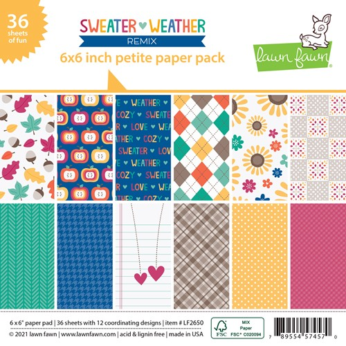 Lawn Fawn SWEATER WEATHER REMIX 6x6 Inch Petite Paper Pack lf2650 Preview Image