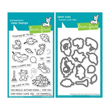 Lawn Fawn SET YOU AUTUMN KNOW Clear Stamps and Dies lfyak