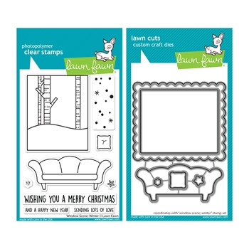 Lawn Fawn SET WINDOW SCENE: WINTER Clear Stamps and Dies lfwsw