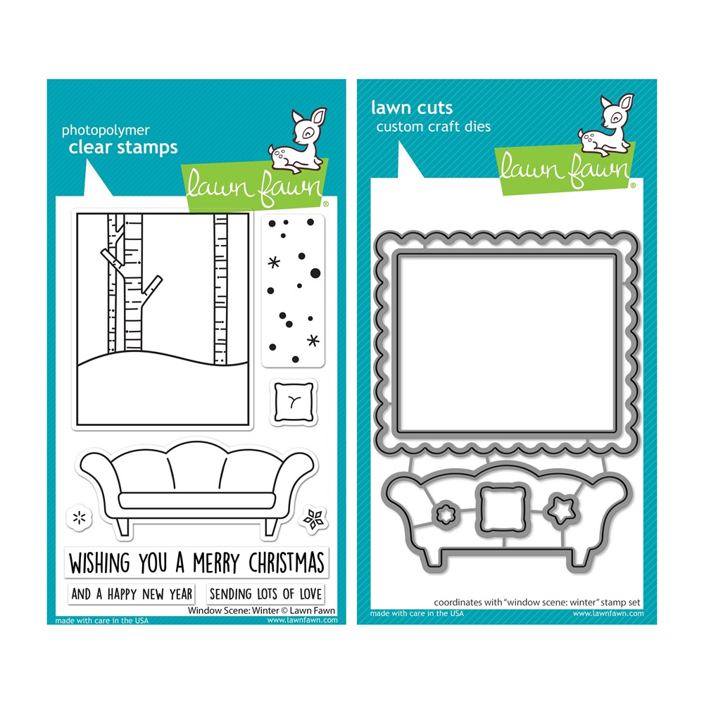 Lawn Fawn SET WINDOW SCENE: WINTER Clear Stamps and Dies lfwsw zoom image