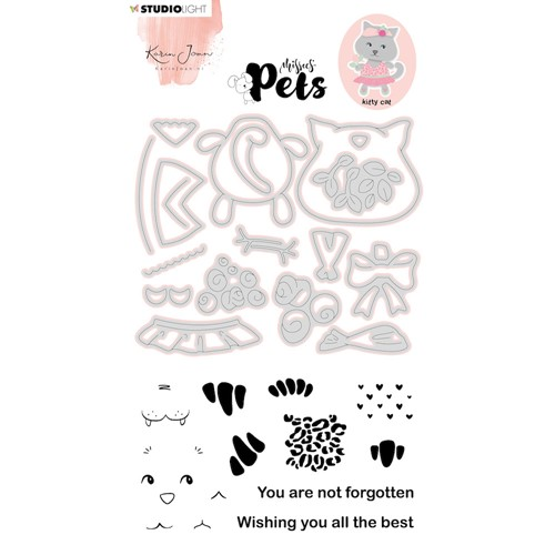 Studio Light PETS BUILDING KITTY CAT Missees Stamp and Die Set kjmbkjscd03 Preview Image