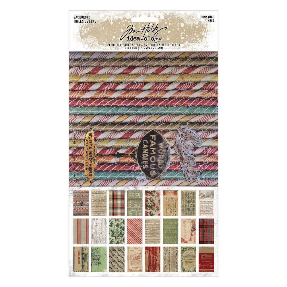 RESERVE Tim Holtz Idea-ology CHRISTMAS Backdrops th94181 zoom image