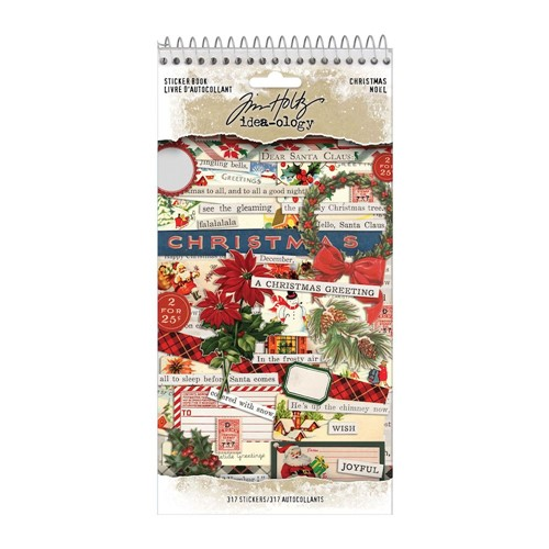 Tim Holtz Idea-ology CHRISTMAS Sticker Book th94183 Preview Image
