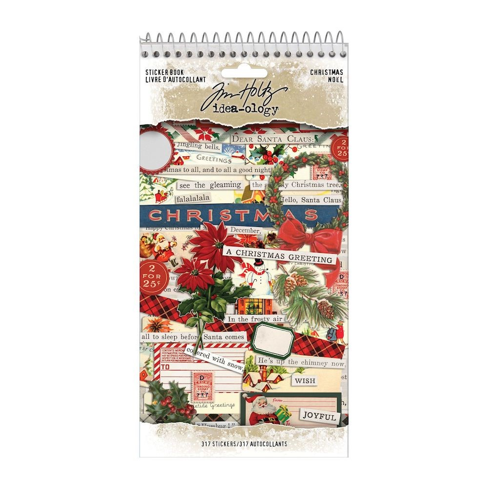 Tim Holtz Idea-ology CHRISTMAS Sticker Book th94183 zoom image