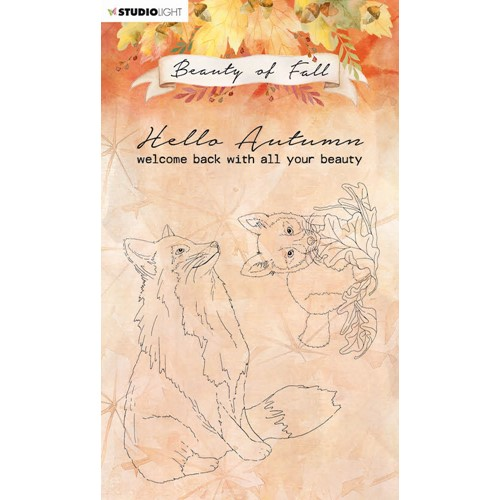 Studio Light BEAUTY OF FALL FOXES Clear Stamps 61 slbfstamp61 Preview Image