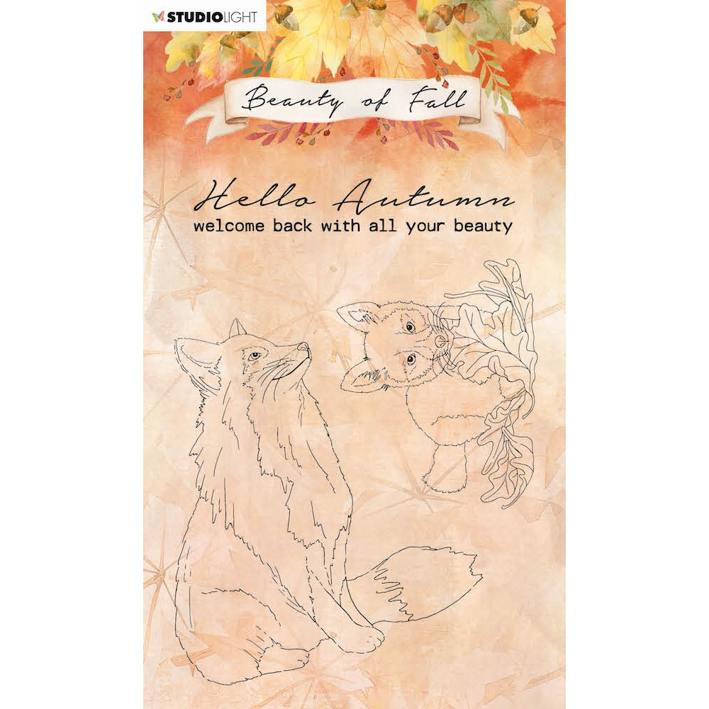 Studio Light BEAUTY OF FALL FOXES Clear Stamps 61 slbfstamp61 zoom image