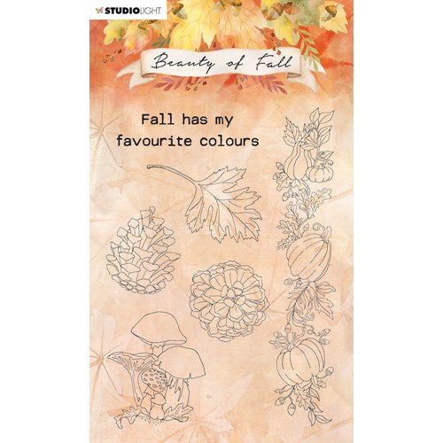 Studio Light BEAUTY OF FALL MUSHROOMS AND PUMPKINS Clear Stamps 62 slbfstamp62 Preview Image