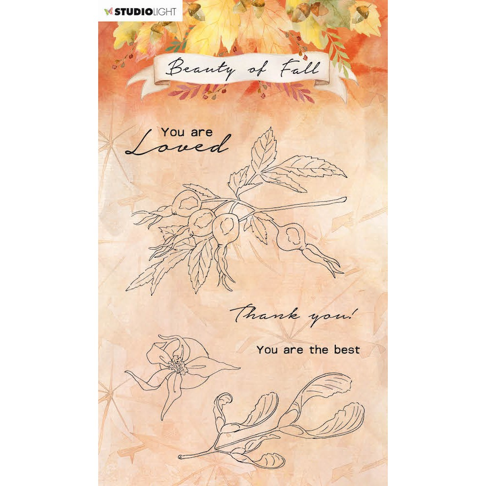 Studio Light BEAUTY OF FALL ROSE HIPS Clear Stamps 64 slbfstamp64 zoom image