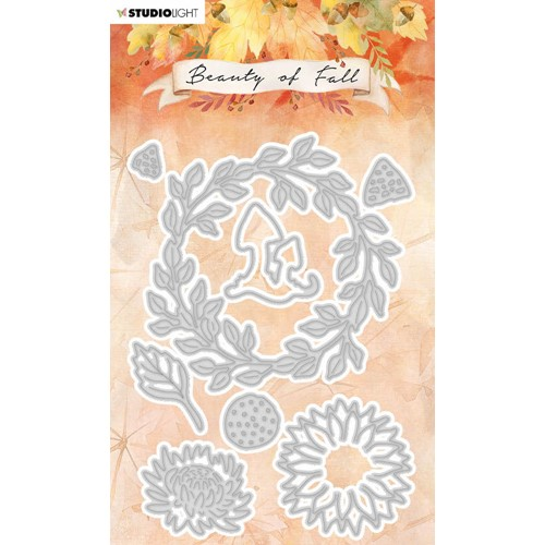 Studio Light BEAUTY OF FALL WREATH OF LEAVES Dies slbfcd58 Preview Image