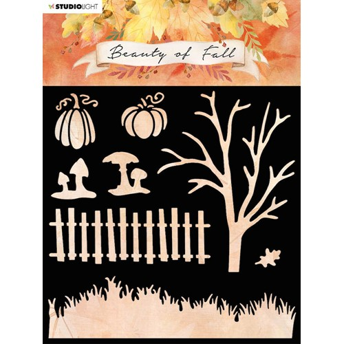 Studio Light BEAUTY OF FALL SCENERY 6x6 Stencil slbfmask34 Preview Image