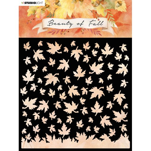 Studio Light BEAUTY OF FALL FALLING LEAVES 6x6 Stencil slbfmask35 Preview Image
