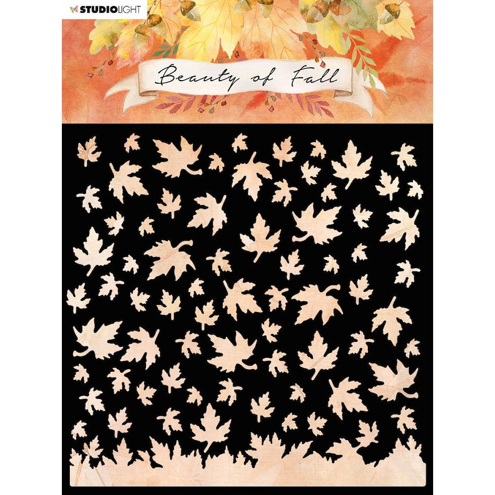Studio Light BEAUTY OF FALL FALLING LEAVES 6x6 Stencil slbfmask35 zoom image