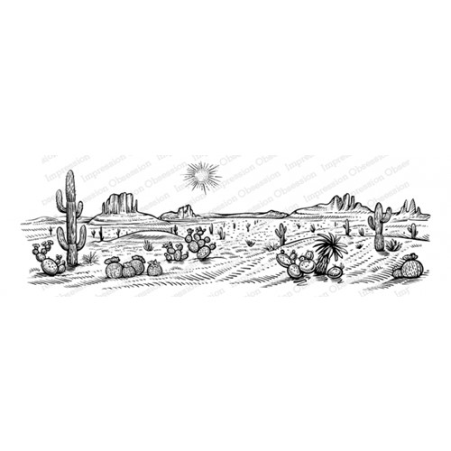 Impression Obsession Cling Stamp DESERT 3272 LG Preview Image