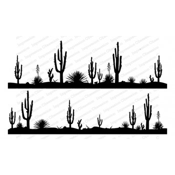 Impression Obsession Cling Stamps DESERT DUO 3273 LG