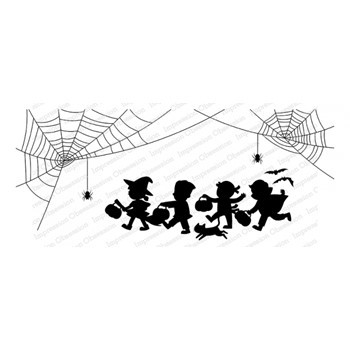 Impression Obsession Cling Stamp TRICK OR TREAT 3270 LG