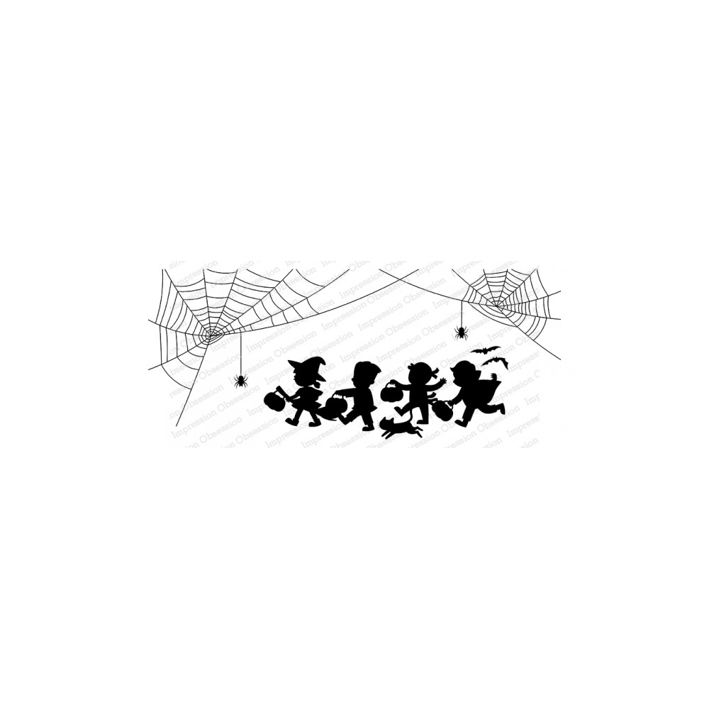 Impression Obsession Cling Stamp TRICK OR TREAT 3270 LG zoom image