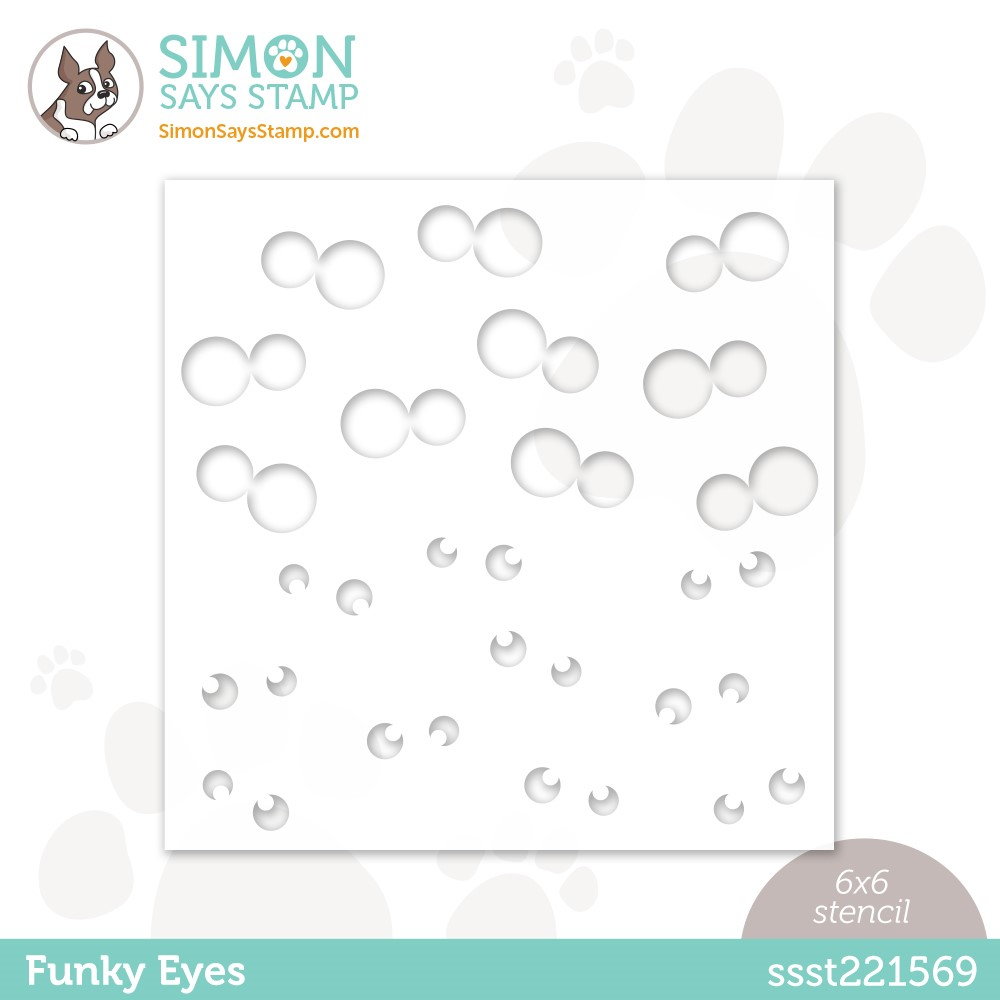 Simon Says Stamp Stencil FUNKY EYES ssst221569 zoom image