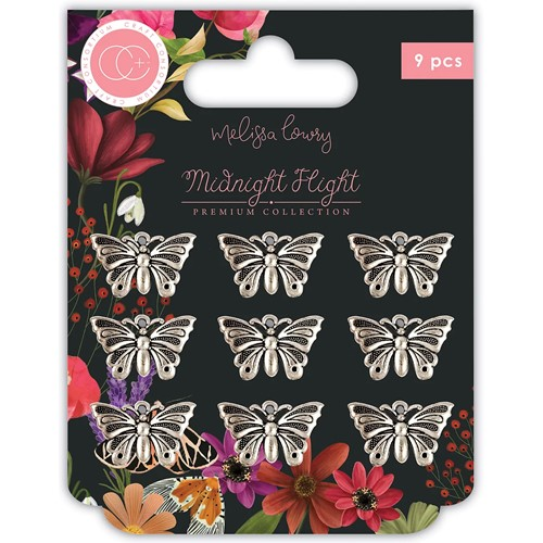 Craft Consortium MIDNIGHT FLIGHT MOTHS Metal Charms CCMCHRM029 Preview Image