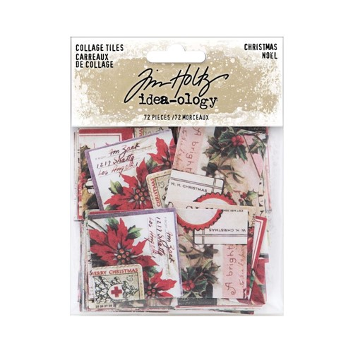 RESERVE Tim Holtz Idea-ology CHRISTMAS Collage Tiles th94189 Preview Image