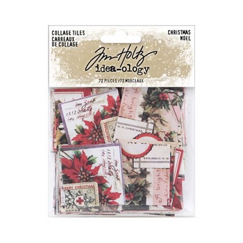 RESERVE Tim Holtz Idea-ology CHRISTMAS Collage Tiles th94189