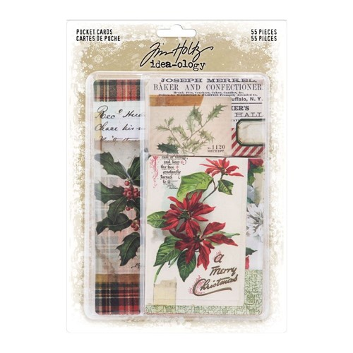 RESERVE Tim Holtz Idea-ology CHRISTMAS Pocket Cards th94190 Preview Image