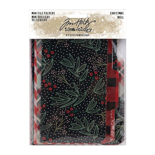 RESERVE Tim Holtz Idea-ology CHRISTMAS Mini File Folders th94191 Preview Image