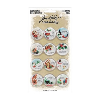 Tim Holtz Idea-ology CHRISTMAS Quote Flair th94196