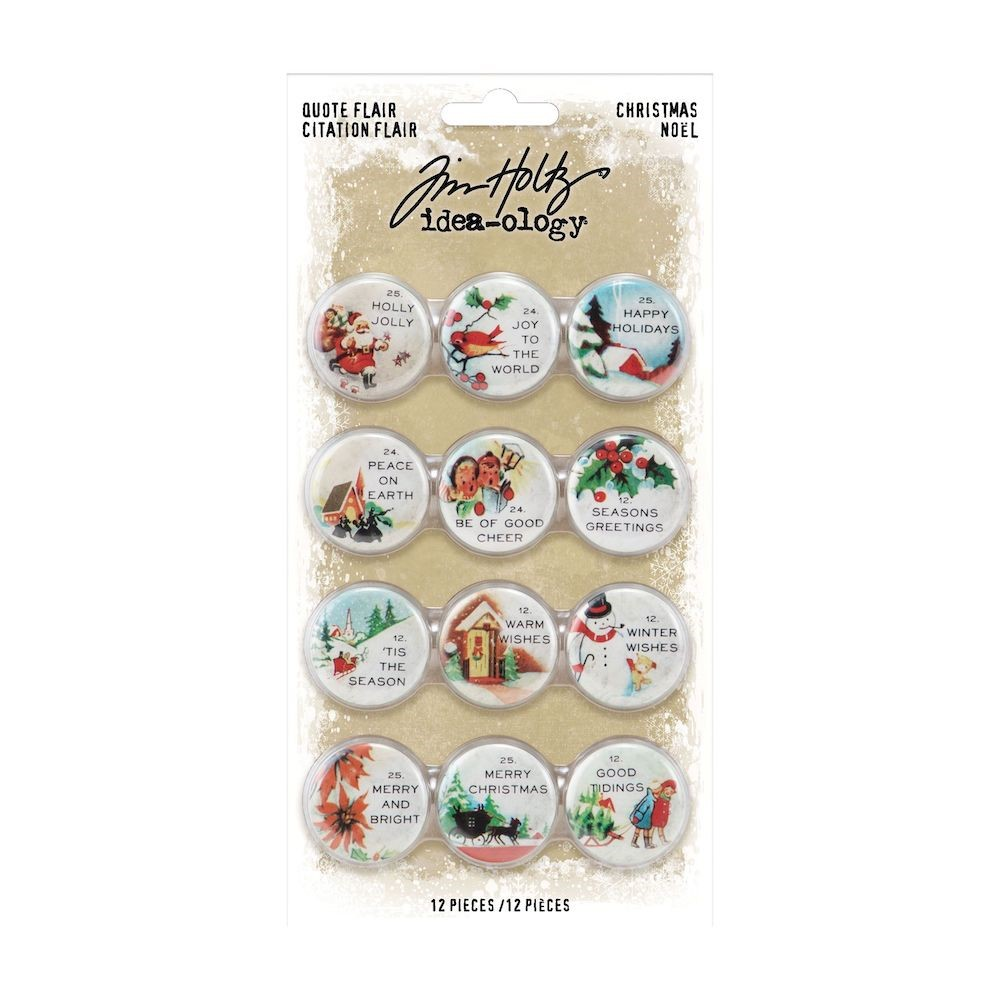 Tim Holtz Idea-ology CHRISTMAS Quote Flair th94196 zoom image