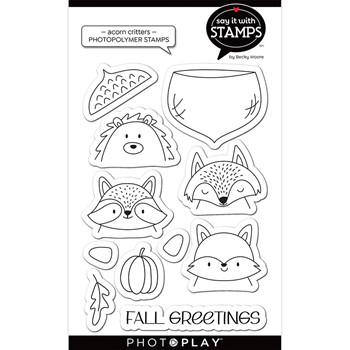 PhotoPlay ACORN CRITTERS Clear Stamps sis2970