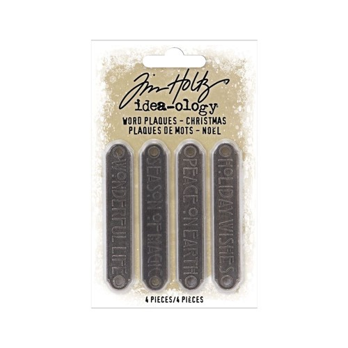 RESERVE Tim Holtz Idea-ology CHRISTMAS Word Plaques th94203 Preview Image