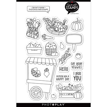 PhotoPlay FARMER'S MARKET Clear Stamps sis2974