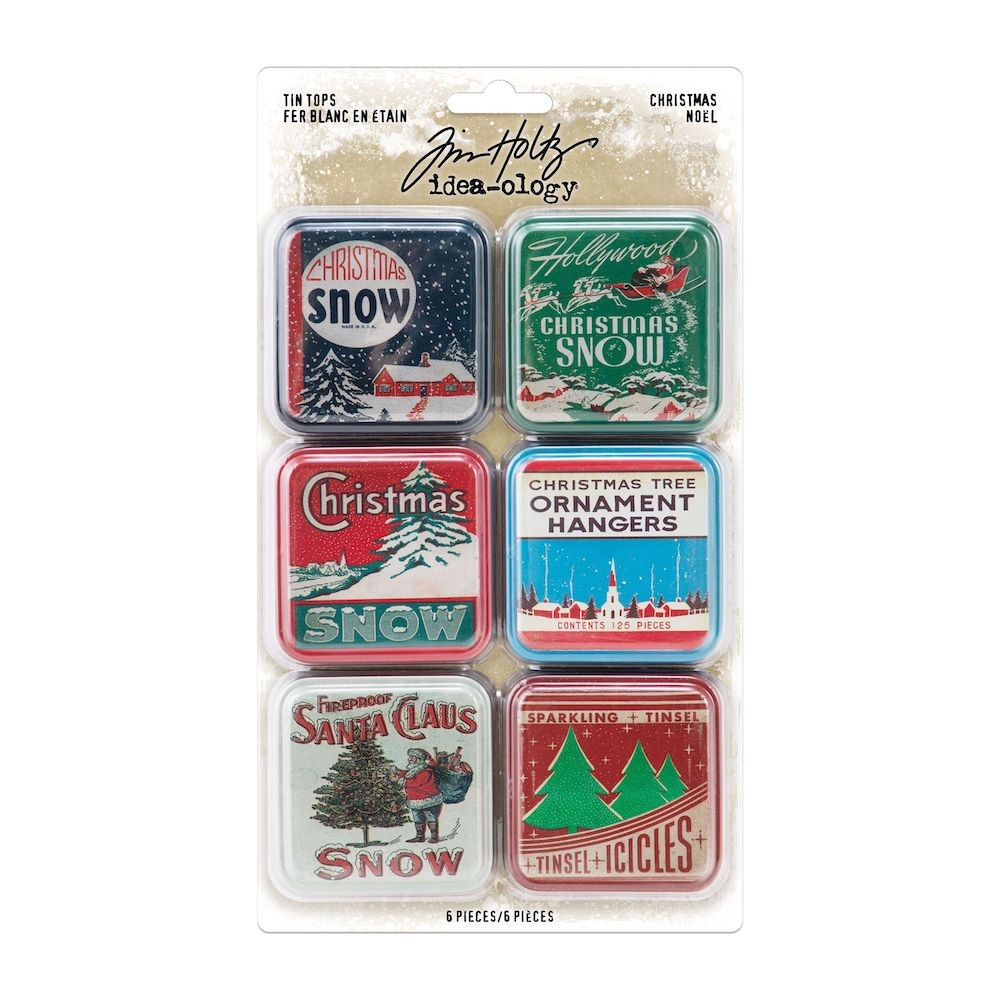 RESERVE Tim Holtz Idea-ology CHRISTMAS Tin Tops th94204 zoom image