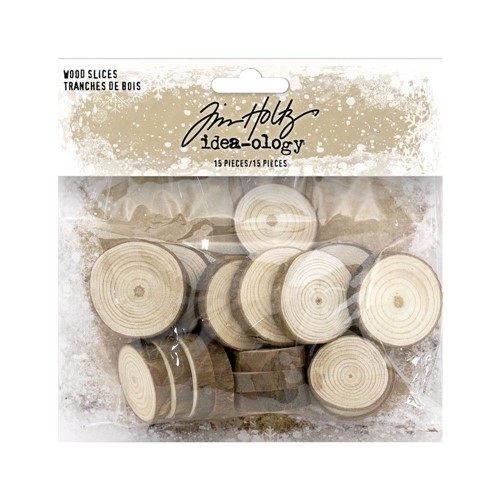 RESERVE Tim Holtz Idea-ology WOOD SLICES th94209 Preview Image