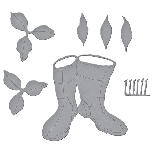 S5-478 Spellbinders ORIENTAL LILY AND WELLIES Etched Dies Preview Image