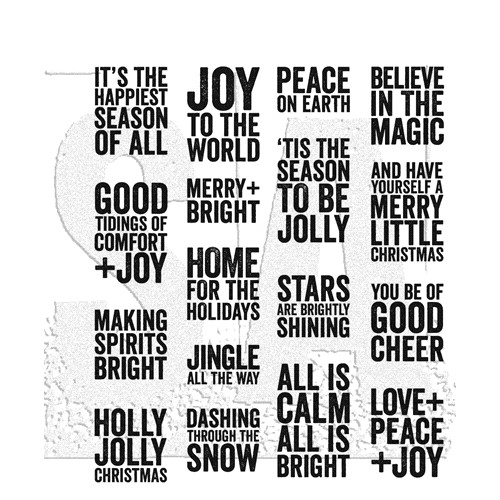 RESERVE Tim Holtz Cling Rubber Stamps BOLD TIDINGS MINI CMS440 Preview Image