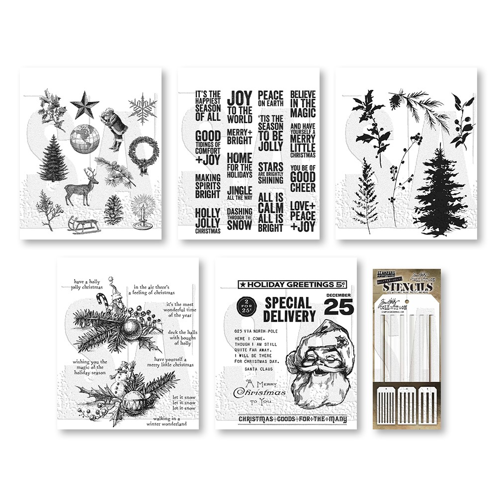RESERVE Tim Holtz I WANT IT ALL Stamps Stencils 2021 Christmas Edition zoom image