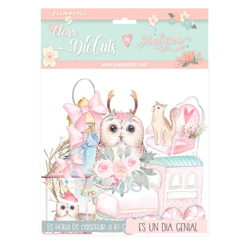 Stamperia CHRISTMAS ROSE Clear Die Cuts dfldcp17 Preview Image