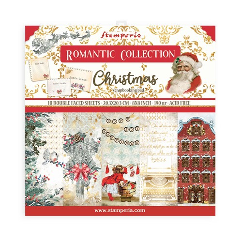Stamperia ROMANTIC CHRISTMAS 8x8 Paper sbbs44 Preview Image