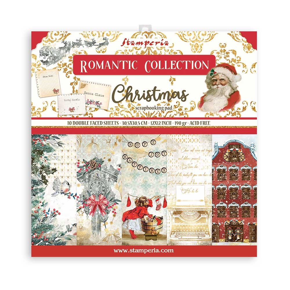 Stamperia ROMANTIC CHRISTMAS 12x12 Paper sbbl96 zoom image