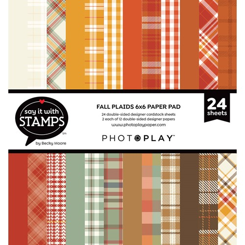 PhotoPlay FALL PLAID 6 x 6 Paper Pad sis3024 Preview Image