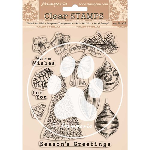 Stamperia ROMANTIC CHRISTMAS Clear Stamps wtk157 Preview Image